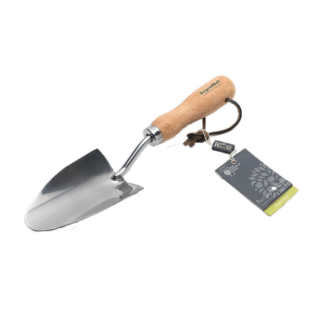 Quality Garden Supplies Tools - Burgon & Ball   Hand Trowel – RHS endorsed Product with Tag