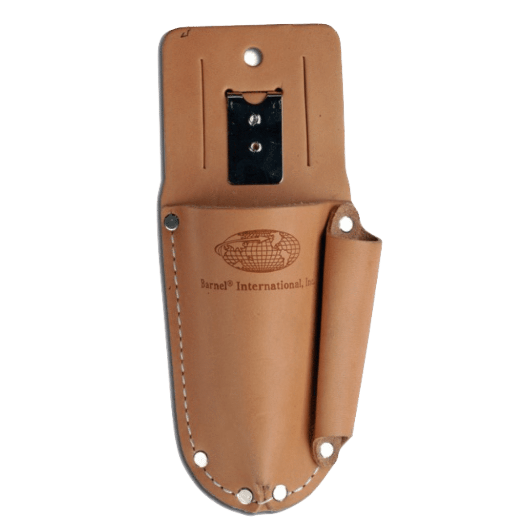 Quality Garden Supplies Tools - Barnel   Leather Secateurs Pouch Full View Brown